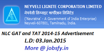 NLC GAT-TAT-ADVERT 2014 15 | jobsfy.in