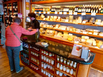The impressive cheese counter at Ultracomida, Aberystwyth