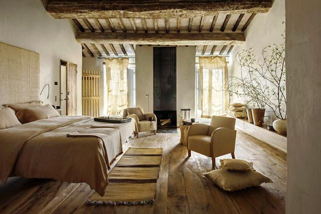 Hotel con encanto ubicado en la región de Val d'Orcia Italia chic and deco