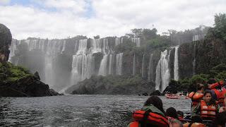 guazu Falls - Boat Trip Iguazu National Park, Argentina. Argentina