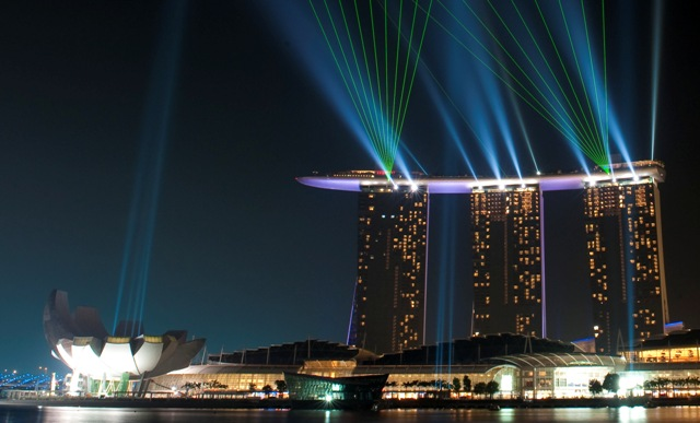 SCRIBD Marina Bay Sands Lightshow