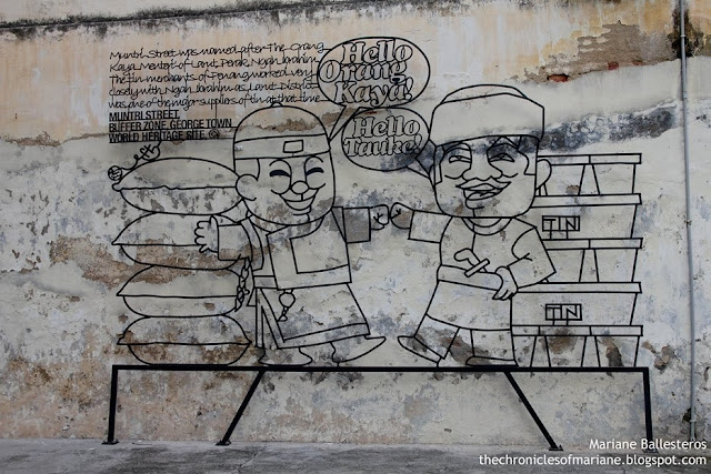 street art penang steel
