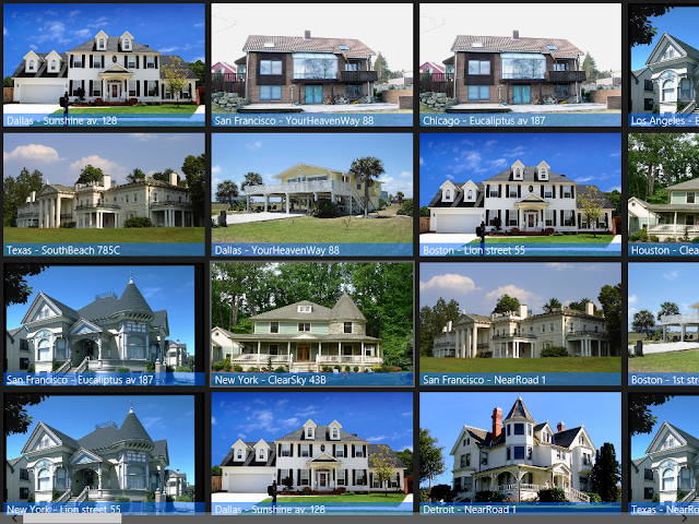 HouseRental_Improved Application - Main Screen