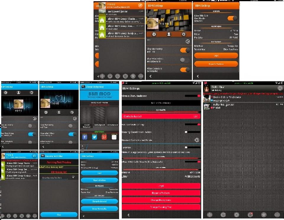 Kumpulan BBM MOD UI Material Design v2.3.0.14 Apk