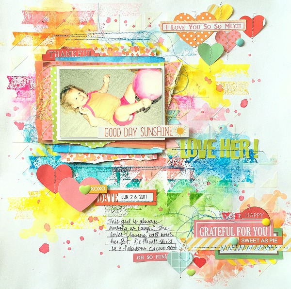 Missy Whidden Chickaniddy Crafts Trend Mixed Media Layout