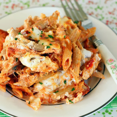 Three Cheese Baked Ziti