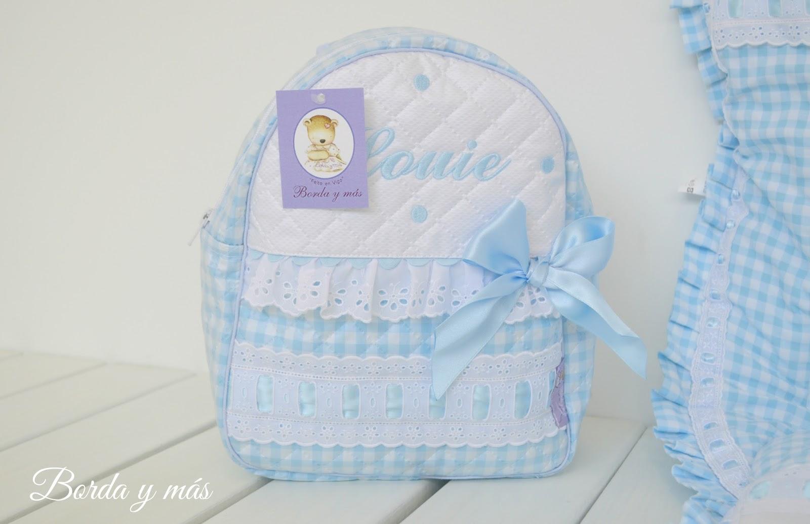 mochila celeste bebe