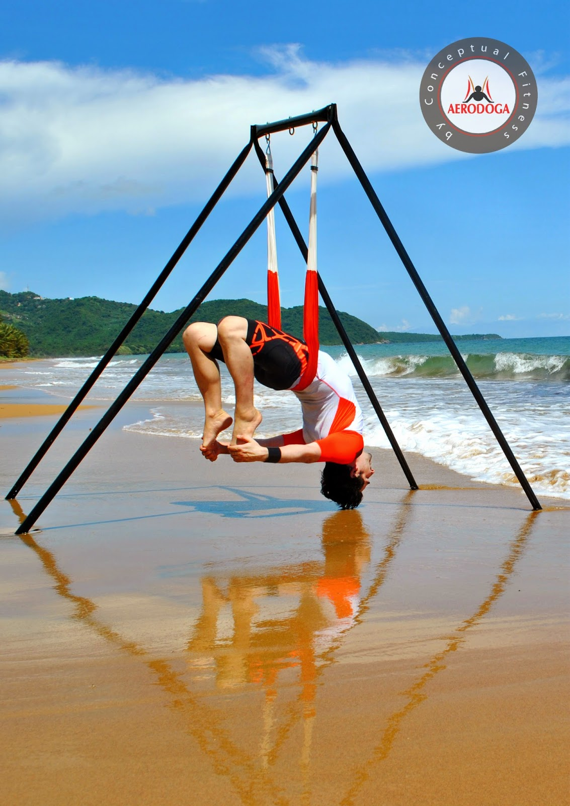 yoga aéreo, trapecio