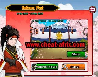 Cheat Sakura Fest 2013 Ninja Saga