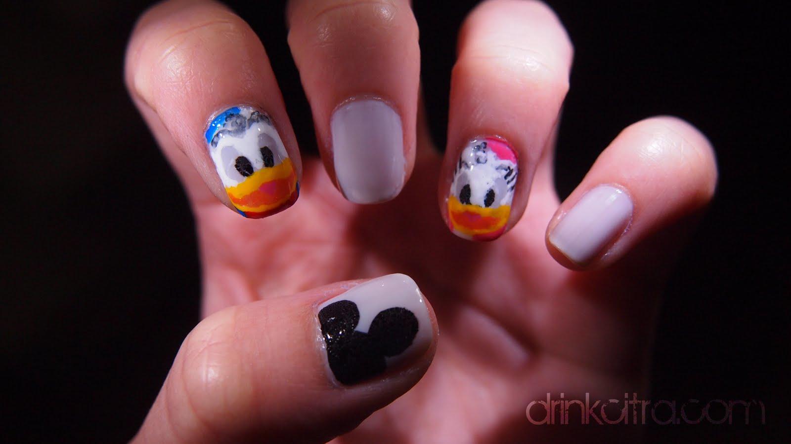 Character Design Nails : Disney character themed nails