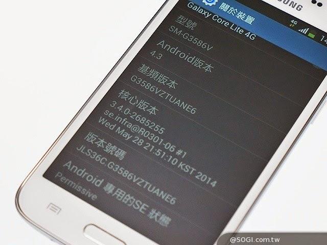 Samsung giới thiệu Galaxy Core Lite, màn WVGA, hỗ trợ LTE