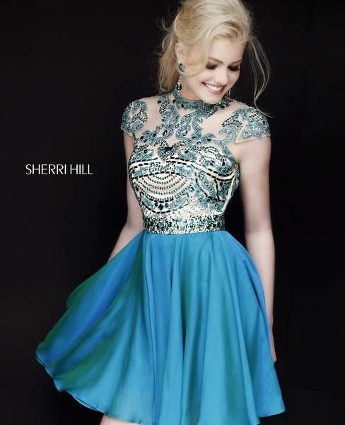 Blue evening gowns designer Sherri Hill