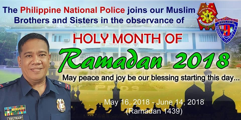 Zamboanga del Sur Police Provincial Office, Police Community Relations Branch Ramadan greetings...