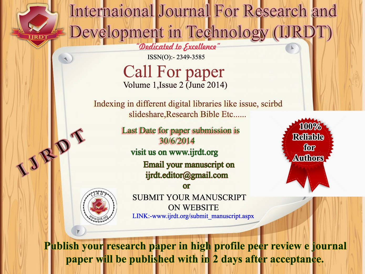 publish your research paper In academic publishing, a paper is an humanities publications often take years to write and years more to publish unlike the sciences, research is most often.