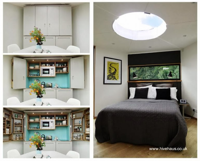 Kitchenette y dormitorio