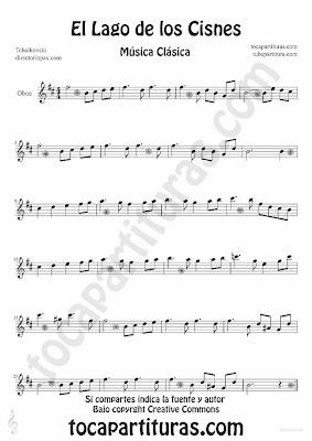 Tubepartitura El Lago de los Cisnes de Piotr IIich Tchaikovski Partitura para Oboe Música Clásica