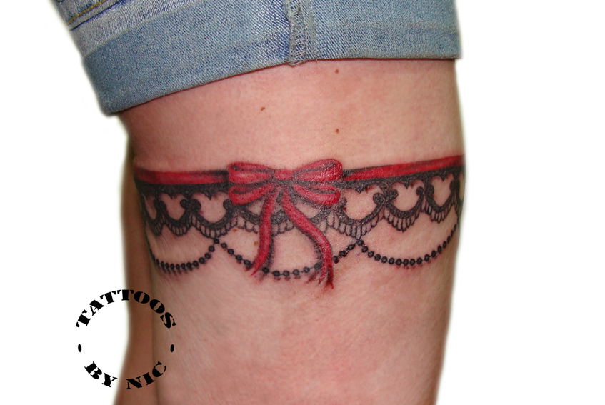 garter lace tattoos pictures to pin on pinterest tattooskid. Black Bedroom Furniture Sets. Home Design Ideas
