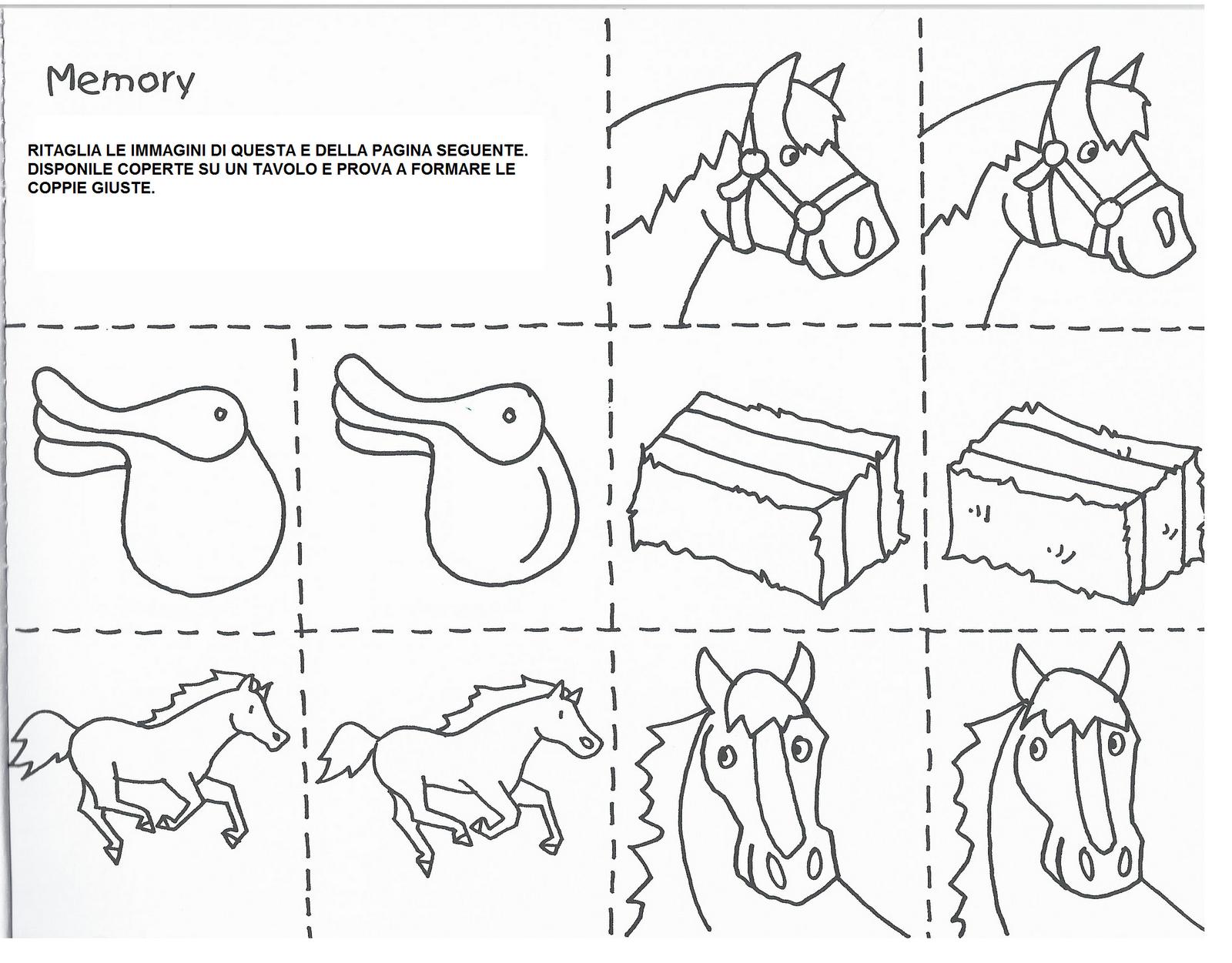 Disegni da colorare cavalli e pony da colorare con giochi for Cavalli da colorare per bambini