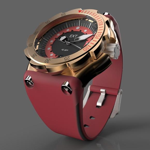 Oceanictime ext tico diver bronze cu7sn6 - Bronze dive watch ...