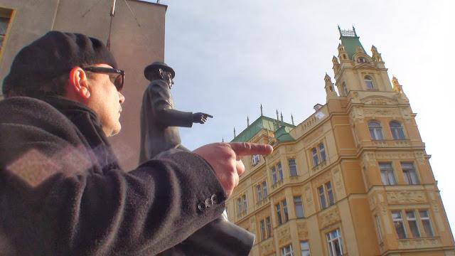 Mario Fattorello, estatua de Kafka en Praga