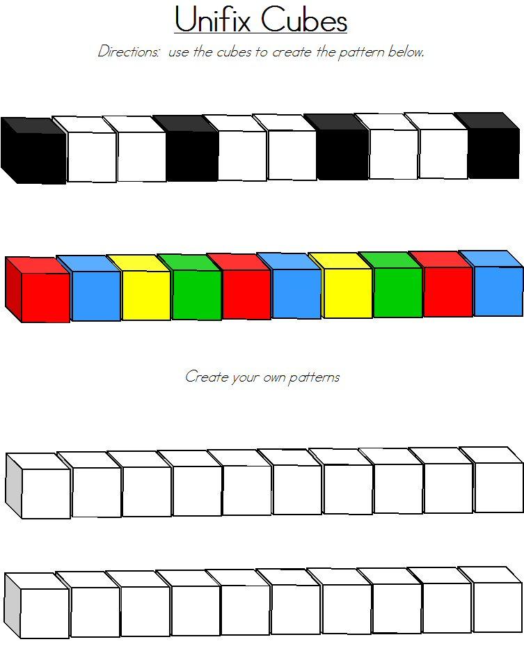 Printables Unifix Cubes Worksheets unifix cubes worksheets plustheapp pattern cube patterns