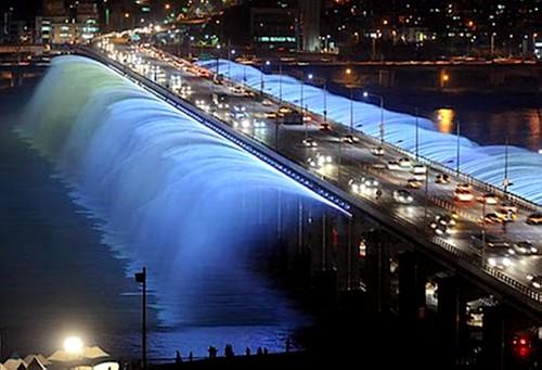 Puentes más curiosos del mundo - Banpo Bridge, Corea del Sur
