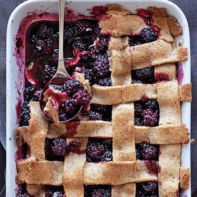 Out to Lunch: TODAY'S MENU {Lattice-Topped Blackberry Cobbler}
