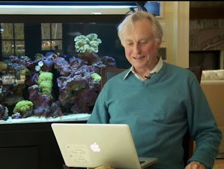 Richard Dawkins and laptop