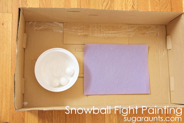 Indoor snowball themed math and art activities for kids based on Jimmy Fallons book, Snowball Fight! These are great ideas for a snow day or winter days when it's just too cold outside for preschool and kindergarten aged kids.