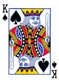 king of spades card