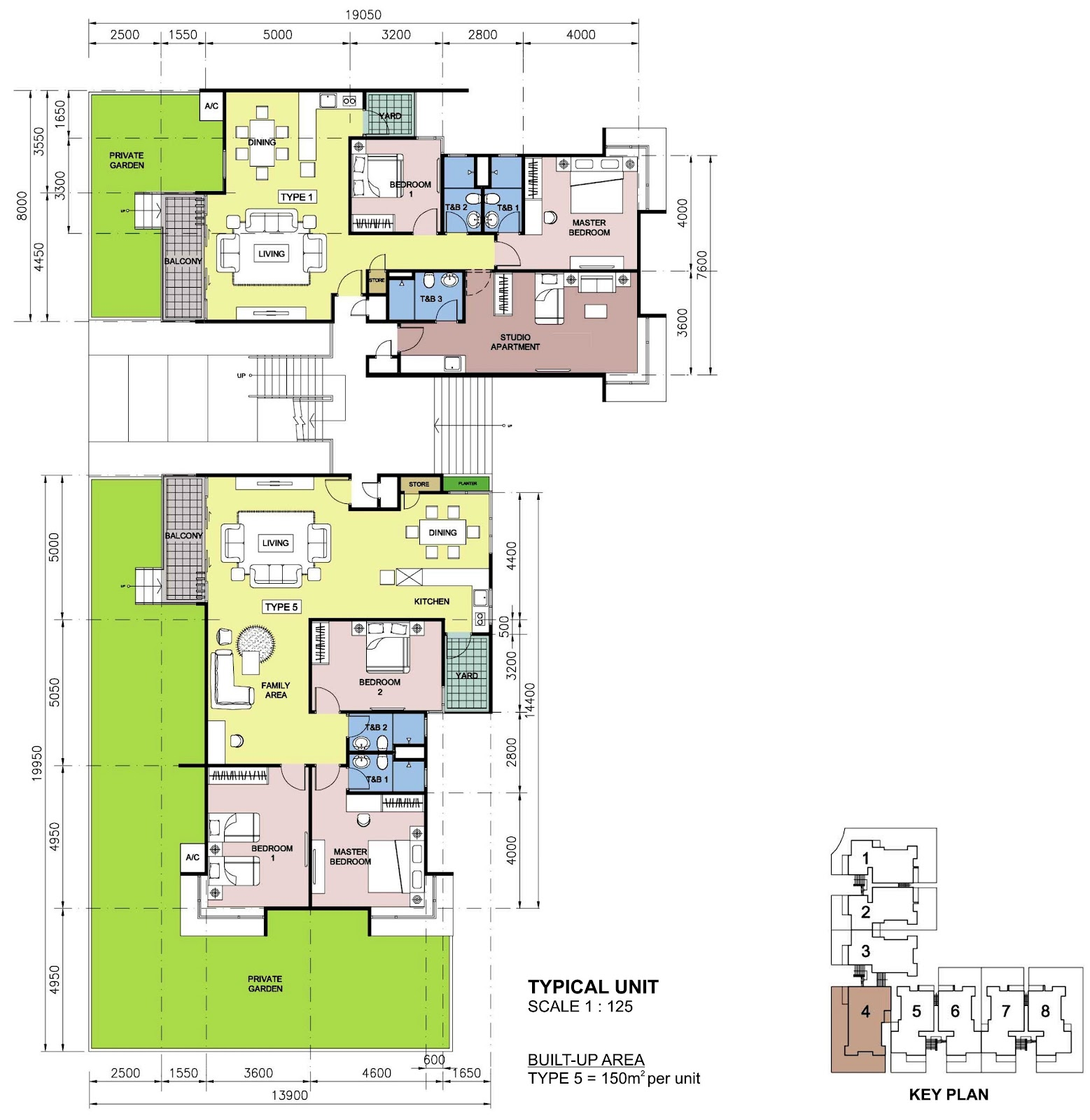 Rhpark Floor Plan Villa Typical Unit Type 5