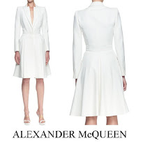 Alexander McQueen Layer Lapel Coat Dress, Valentino Minaudiere Clutch Bag, Gianvito Rossi Pumps