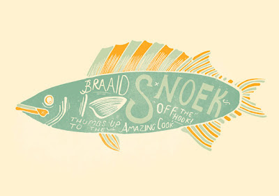 Fort Rixon illustration of a fish and handmade type