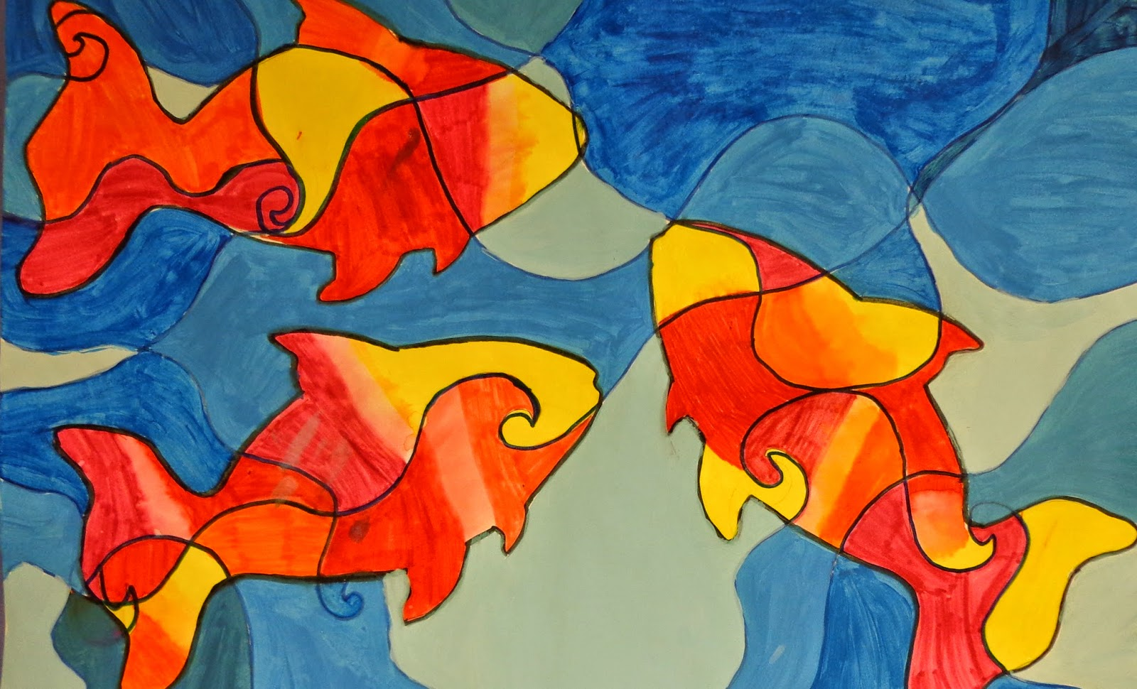 The Art Factory: Contrasting Color Fish