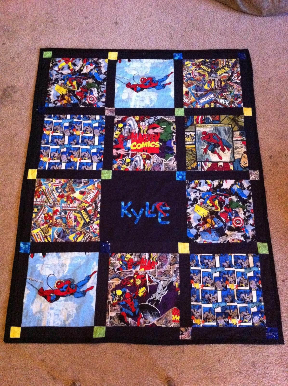 Between the Rabbit's Ears: Marvel Quilts : spiderman quilt - Adamdwight.com
