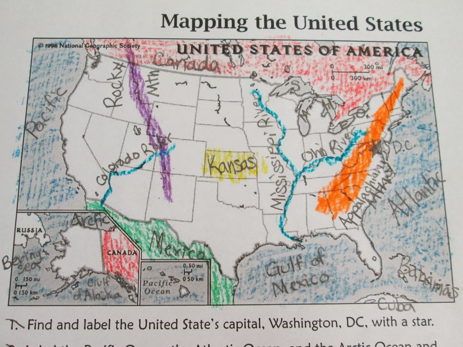 Adventures In Third Grade Landforms Waterways In North AmericaUSA - Us waterways map