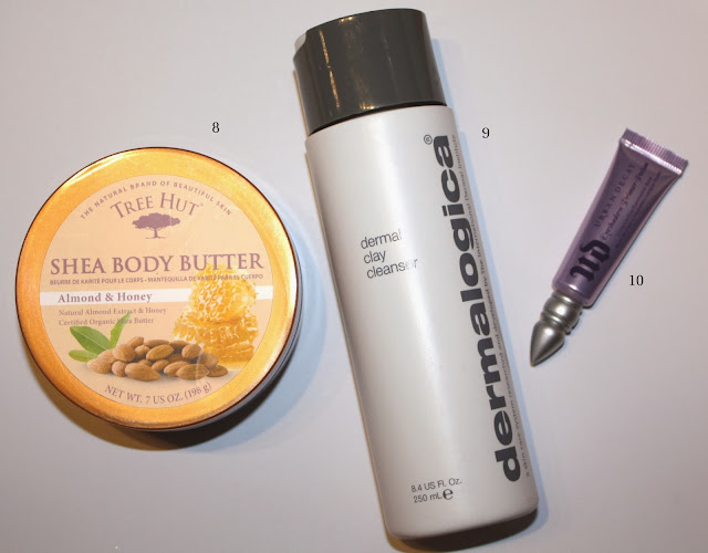 Best Products of 2013: Tree Hut Almond & Honey Body Butter, Dermalogica Dermal Clay Cleanser, Urban Decay Eyeshadow Primer Potion in Original