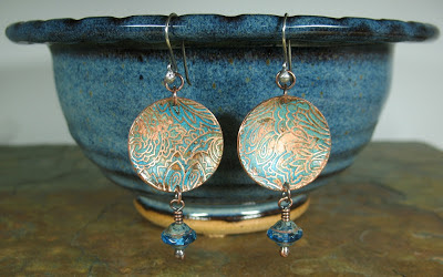 reversible earrings by Libellula Jewelry