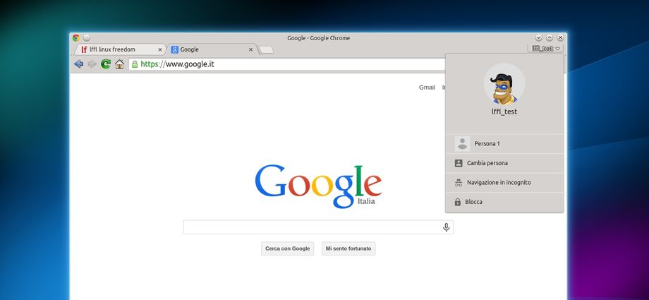 Gestore dei profili in Google Chrome