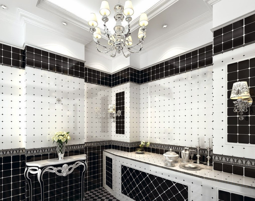 Contemporary black and white bathroom ideas designs for Bathroom design ideas black and white