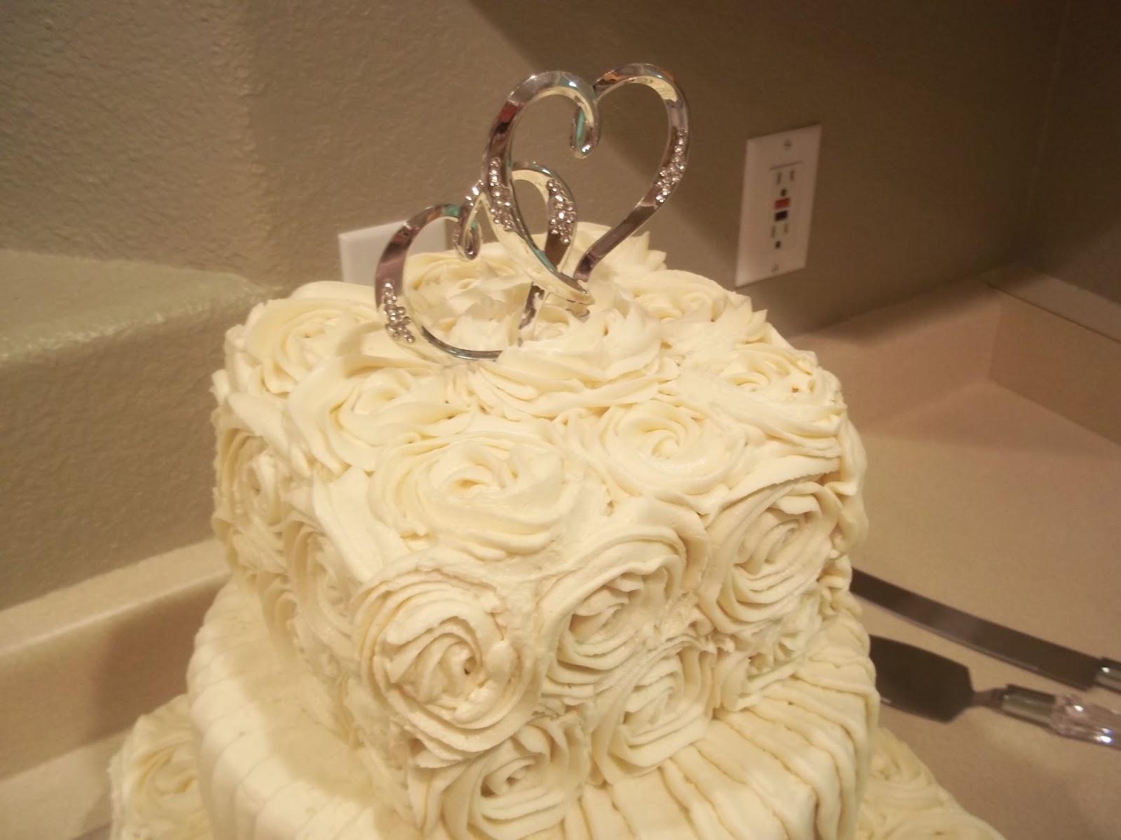 Cakes by Jenn: Rosette Wedding Cake