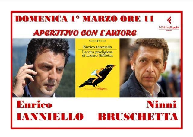 ENRICO IANNIELLO E IL SUO ISIDORO SIFFLOTIN AL POINT CON NINNI BRUSCHETTA