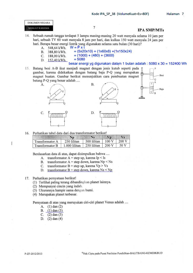 Soal Dan Pembahasan Un Ipa Paket 38 Kelas 9 Smp Ta 2012 2013 Kumpulan Soal Dan Prediksi Ujian