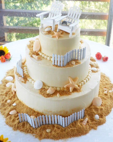 Beach Theme Wedding Cakes | Beach Theme Wedding Cake Toppers