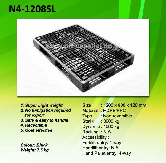 Pallet Plastik N4-1208SL