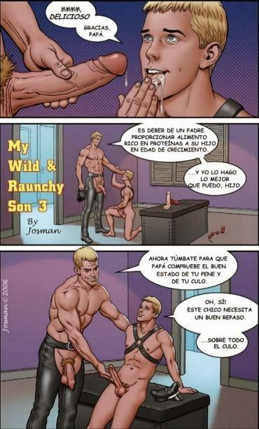 Gay SEX Comics: Mi Salvaje y Obsceno Hijo, Parte3