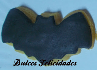 Galletas Batman Fondant