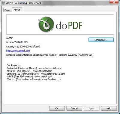 免費PDF文件生成,將要列印的文件轉換成 PDF,doPDF 8.0.911 多國語言版!
