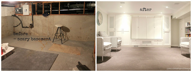 Basement before and after www.somuchbetterwithage.com