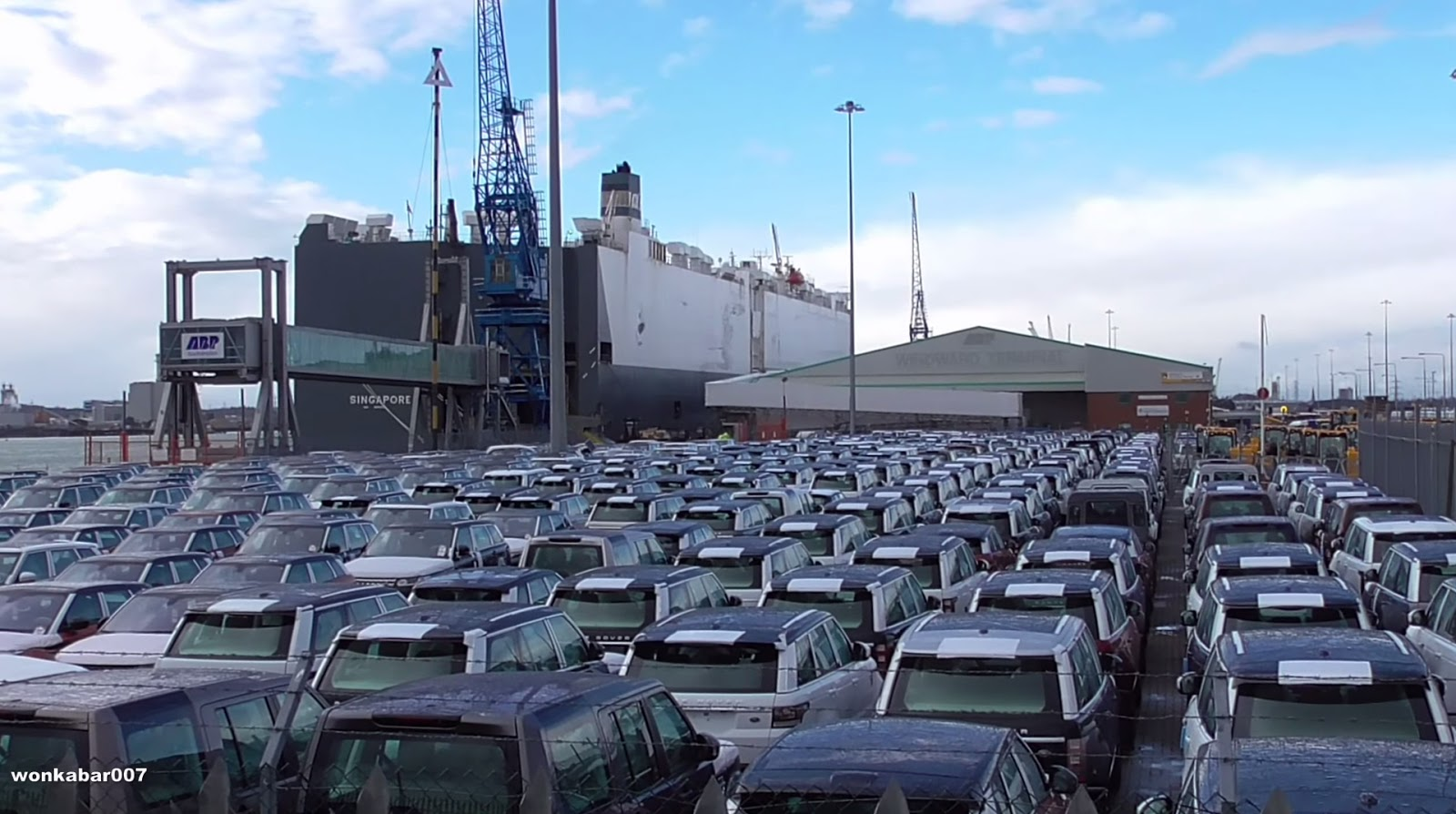Watch Salvaged Luxury Vehicles Driven Off Cargo Ship Hoegh